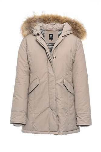 super popular d3041 708e3 Basic.de Damen-Parka Echtfell Winter-Jacke MATOGLA 7895