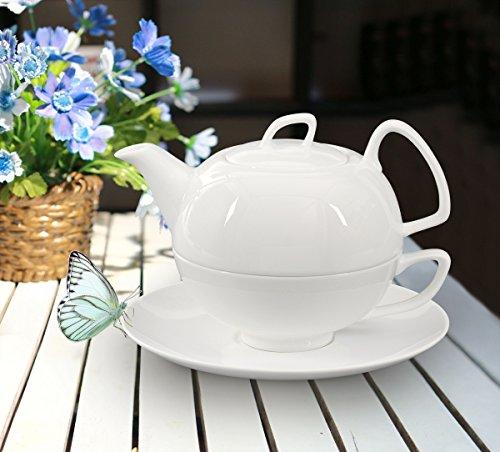 buchensee porzellan tea for one tea4one teeservice teeset 4 teilig schwanensee 550ml fine bone. Black Bedroom Furniture Sets. Home Design Ideas