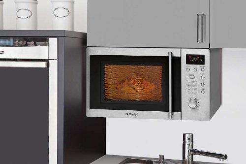 unterbaufähige Mikrowelle mit Grill und aus Edelstahl