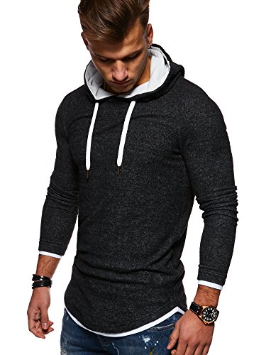 rello reese herren 2in1 oversize hoodie pullover kapuzenpullover hoodie mt 7426. Black Bedroom Furniture Sets. Home Design Ideas