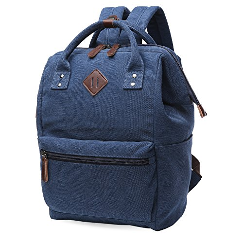 oflamn rucksack damen herren vintage daypack laptopfach f r uni arbeit reise. Black Bedroom Furniture Sets. Home Design Ideas