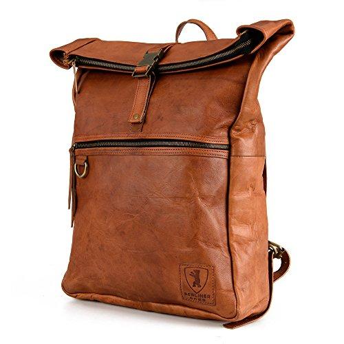 berliner bags utrecht xl kurierrucksack rucksack roll top aus leder tagesrucksack. Black Bedroom Furniture Sets. Home Design Ideas