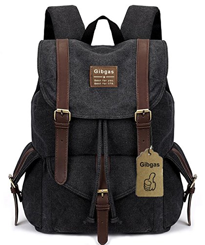 rucksack herren retro rucksack uni canvas vintage schulrucksack f r jungen student damen sport. Black Bedroom Furniture Sets. Home Design Ideas