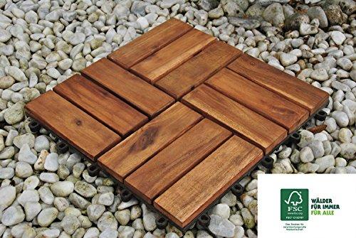 Sam Terrassenfliese 02 Akazienholz 11er Spar Set Fur 1m 30x30 Cm