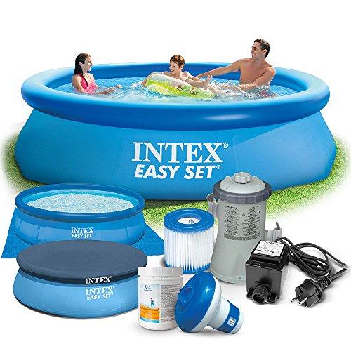 Global 7in1 set gartenpool easy set pool 305 x 76cm mit for Gartenpool set
