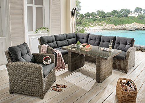 destiny loungegruppe riviera xl lounge garnitur sitzgruppe sofaset polyrattan. Black Bedroom Furniture Sets. Home Design Ideas