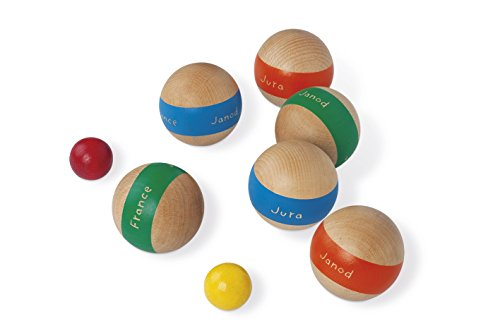 janod j03014 boule spiel sechs kugeln farbig markiert. Black Bedroom Furniture Sets. Home Design Ideas