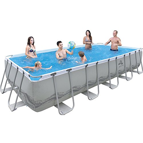 Jilong passaat swimming pool set 540x274x122 cm mit for Rechteck pool stahlwand