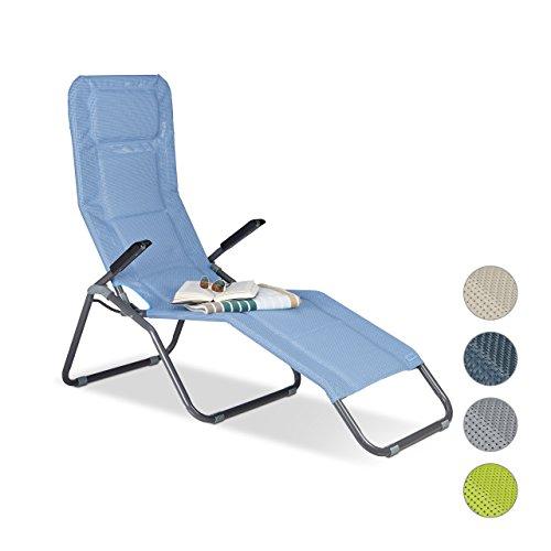 relaxdays gartenliege xxl bis 150 kg belastbar gro e b derliege m kippfunktion sonnenliege m. Black Bedroom Furniture Sets. Home Design Ideas