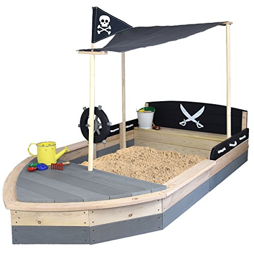 sandkasten boot pirat xxl aus holz schiff sun. Black Bedroom Furniture Sets. Home Design Ideas