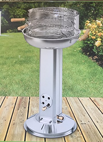 s ulengrill edelstahl grill holzkohle bbq rundgrill 39cm. Black Bedroom Furniture Sets. Home Design Ideas