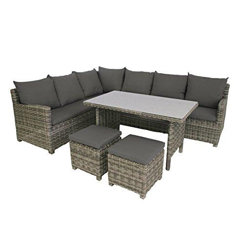 Greemotion Rattan Lounge Set Miami 6tlg Design Loungeset Für 7 Aus