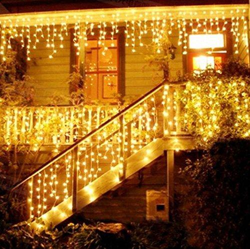 Weihnachtsbeleuchtung Außenbereich.216 Led 5m Eisregen Eiszapfen Lichter Led Lichtervorhang Lichter Weihnachtsdeko Weihnachtsbeleuchtung Deko Christmas Innen Und Aussen Led String