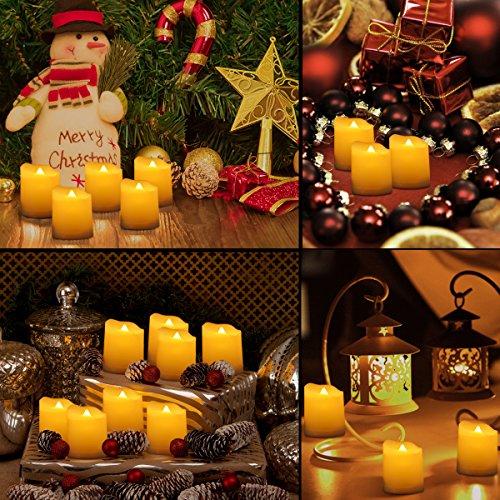 Criacr 9er Led Kerzen Mit Fernbedienung Flammenlose Kerzen Mit