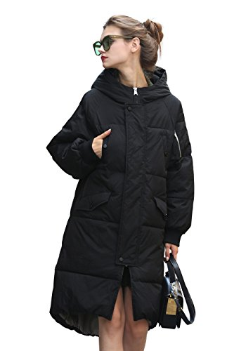Jacke Damen Mantel Damen Steppmantel Damen Schwarz Lang