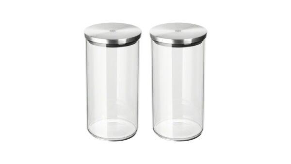 Die beiden rund geformten Vorratsdosen der Größe M von ZWILLING sind ideal