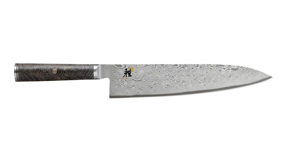 Mit dem extra scharfen Gyutoh-Messer von MIYABI zerschneiden Sie sämtliche Lebensmittel von Kräutern bis hin zu Fleisch. Diese Schärfe macht es außerdem möglich