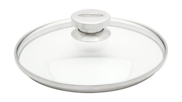 Dieser Glasdeckel mit einem Durchmesser von 24 cm eignet sich
