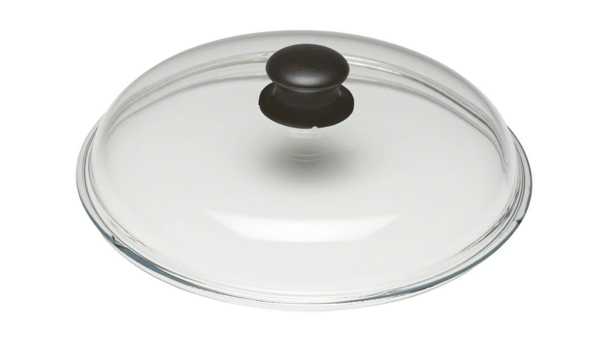 Mit seinem Durchmesser von 28 cm ist der Glasdeckel aus der Serie Dingerkus von BALLARINI die optimale Ergänzung für größere Töpfe und Pfannen in Ihrer Küche. Durch die Transparenz des Glasdeckels sehen Sie