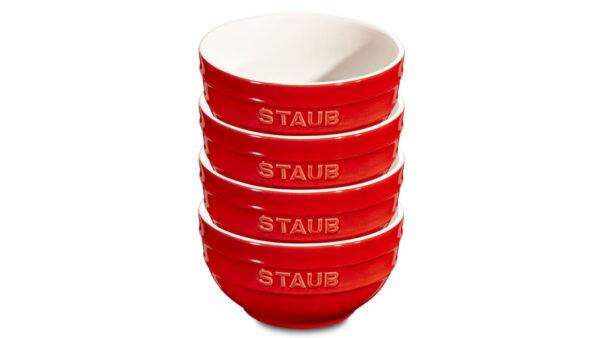 Zu jeder Basisausstattung in einem Haushalt gehören Rührschüsseln. Mit diesem 4-teiligen Set können Sie nicht nur Saucen oder Dressings zubereiten
