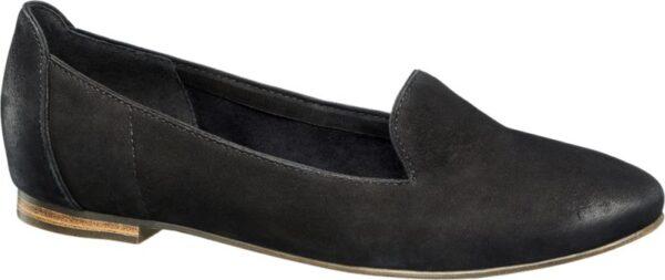 Der Loafer von 5th Avenue vereint die Vorzüge eines klassischen Damen Slippers mit dem Laufgefühl eines Absatzschuhs Der Loafer ist in elegantem Schwarz gehalten Das Obermaterial besteht aus hochwertigem Leder im Innenmaterial sind Leder und Textilmaterialien verarbeitet Mit dem 1 cm starken Blockabsatz ist der Schuh angenehm zu tragen