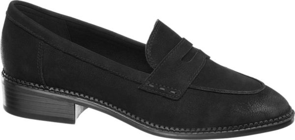 Ein echtes Must have im Herbst und Winter ist dieser Loafer von 5th Avenue! Mit einer Höhe von 3 0 cm sorgt der moderne Blockabsatz für ein elegantes Erscheinungsbild Der hochwertige Look des Obermaterials aus Leder sowie die trendigen Details des Schuhs lassen sich perfekt mit unzähligen Outfits kombinieren Nicht nur zum Rock sondern auch zur Hose überzeugt der Loafer und wird zum neuen Liebling im Schuhschrank