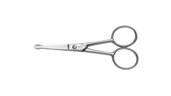 Mit der Nasen- und Ohrenhaarschere aus der Serie ZWILLING® Classic Instrumente entfernen Sie lästige Haare in Nase und Ohren einfach und sicher. Die abgerundeten Enden beugen der Verletzungsgefahr vor. Die Schere ist präzise verarbeitet und besteht aus hochwertigem vernickeltem Stahl