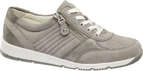 Gefertigt aus anschmiegsamem Leder und ausgestattet mit einer herausnehmbaren Innensohle bietet der graue Schnürer Weite G normalweit von Medicus einen erstklassigen Tragekomfort Er ist ähnlich wie ein Sneaker geschnitten und im Fersenbereich verstärkt – so hat der Fuß guten Halt Der Schaft ist gepolstert Zusätzlich zur Schnürung verfügt der Schuh über einen Reißverschluss