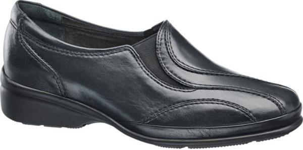 Echtes Leder sorgt bei dem blauen Slipper von Medicus für eine attraktive Optik angenehme Haptik und ein gesundes Schuhklima denn das hochwertige Naturmaterial ist atmungsaktiv Die herausnehmbare Innensohle bietet zusätzlichen Komfort Dank Elastik Einsatz ist der Schuh unkompliziert in der Handhabung Markante Ton in Ton Nähte werten das unifarbene Design auf Der Schuh ist in Weite G – normalweit – erhältlich