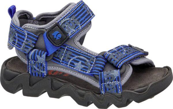 Mit den robusten Riemen und dem 2 fach Klettverschluss bietet die Trecking Sandale von Elefanten in Blau und Grau optimalen Halt und ist der perfekte Begleiter für jedes aktive Kind Mit seinem sportlichen Design überzeugt dieser Schuh sowohl bei jeglichen Abenteuern im Alltag als auch bei Sportaktivitäten und dient gleichzeitig noch als frischer sommerlicher Farbakzent Der Schuh ist in der Weite Weit erhältlich