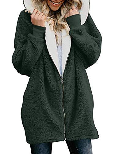 online store 10c4b cf8a9 bridene Soteer Wintermantel Damen Revers Faux Wolle Winter Mantel Warm  Outwear Plüsch Jacke Winterparka
